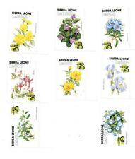 VINTAGE CLASSICS - Sierra Leone Flowers - Set Of 8 Stamps - MNH