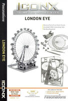 Fascinations Metal Earth ICONX LONDON EYE (Ferris Wheel) 3D Laser Cut Model Kit