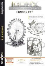 Fascinations Iconx LONDON EYE (Ferris Wheel) 3D Metal Earth Laser Cut Model Kit
