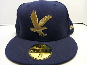 EMBRY RIDDLE AERONAUTICAL UNIVERSITY Gold Eagle New Era 7.5 Embroidered Hat Cap