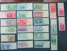 3 cent Commemorative Stamps with plate number (23 count)