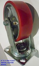 CASTER WHEEL ( 6 X 2 ) INCH POLYCAST SWIVEL- HEAVY DUTY - 300KG RATING - NEW