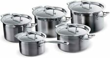 Le Creuset 3-Ply Stainless Steel Cookware Set, 5 Pieces Brand new