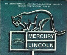 Mercury 1977 USA Market Sales Brochure Bobcat Comet Monarch Cougar Marquis