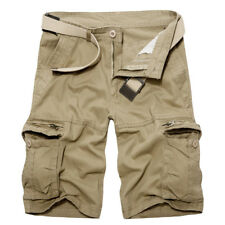Good Mens Military Combat Camo Cargo Shorts Pants Work Casual Black Army Trouser