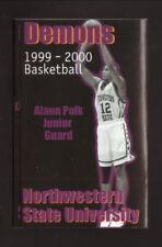 Northwestern State Demons--1999-00 Basketball Pocket Schedule--CenturyTel