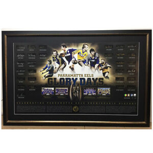 PARRAMATTA EELS SIGNED FRAMED LIMITED EDITION OFFICIAL 'GLORY DAYS' LITHOGRAPH
