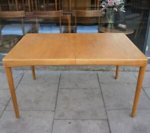 Vintage Bramin HW Klein Oak rectangular extendable dining table