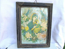 ANTIQUE VERY OLD ORTHODOX WOODEN PRINTED RUSSIAN ICON