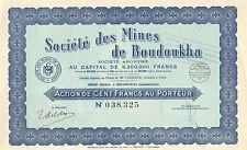 Argelia, Societe des Mines de Boudoukha SA, accion, 1937
