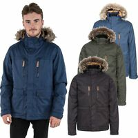 Trespass Mens Winter Jacket Waterproof Insulated Coat With Fur Hood