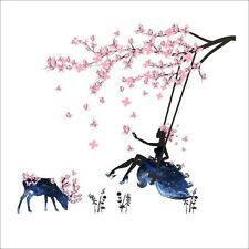 Removable Beauty PlumTree Swing Bedroom Wall Stickers Home Decal Decor Mural Art