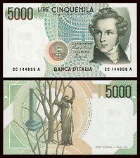 Italia - Italy  5000 Lire 4-1-1985  Pick 111b SC = UNC
