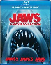 Jaws: 3-Movie Collection (Blu-ray + Digital) Brand New + Free Shipping