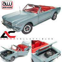 AUTOWORLD AMM1103 1:18 1965 FORD MUSTANG CONVERTIBLE SILVER SMOKE GRAY