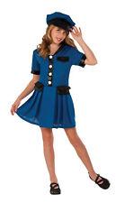 Kids Lady Cop Costume Blue Police Dress Child Size Medium 8-10