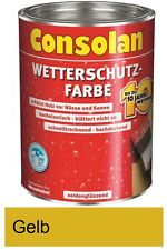 Consolan Wetterschutz-Farbe Gelb 750 ml NEUWARE Art. Nr. 5087465