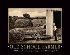 Farming Motivational Poster Art Print Giant Sweet Corn Seeds Advertising MVP74