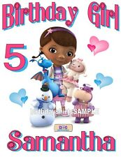 NEW CUSTOM PERSONALIZED DOC MCSTUFFINS BIRTHDAY T SHIRT PARTY FAVOR ADD NAME