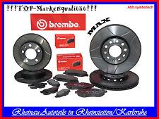 Brembo MAX Sport + Beläge-Vorne+Hinten-SET-SKODA Octavia(1U2),Combi(1U5),1.8-2.0