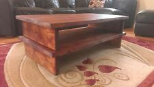 Handmade bespoke extra large wooden rustic chunky pine or oak coffee table