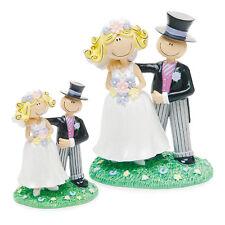 CARICATURA stile Topper sposa e sposo per torta nuziale piccole