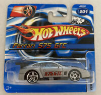 2006 Hotwheels Ferrari 575 GTC Silver! Mint! MOC!