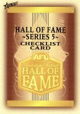 2018 AFL SELECT LEGACY HALL OF FAME SERIES 5 COMPLETE COMMON SET 34 CARDS