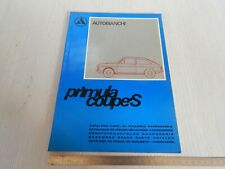 CATALOGO PARTI RICAMBIO CARROZZERIA ORIGINALE AUTOBIANCHI PRIMULA coupé 65 S '73