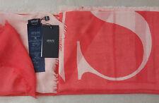 Armani Jeans con logotipo impreso para mujer bufanda-Hecho en Italia