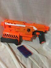 Nerf Elite 2-in-1 Demolisher Motorized Blaster Rifle Gun 10 Darts 1 6 Round Clip