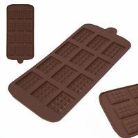 Chocolate Mould Bar Break Apart Choc Block Ice Tray Silicone Cake Bake Mold Y M