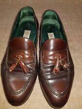 Vintage Gucci Men Brown Loafers Moc Toe Tassel Slip On Dress Shoes 41.5 E Italy