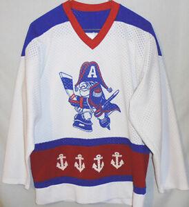 -Rare- 1980's -Milwaukee Admirals- Vintage AHL Hockey Uniform Jersey/Sweater