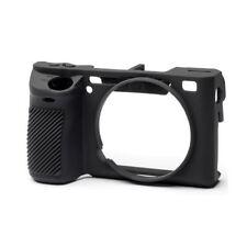EasyCover silicone pelle morbida custodia Cover Sony A6500 in Nero + Proteggi Schermo