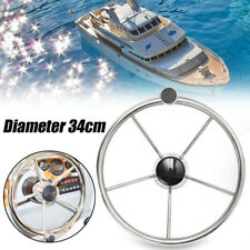 316 Stainless Steel 13.5'' Boat Steering Wheel 25 Degree Marine Yacht With Knob