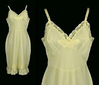 Vintage Dress Slip Chantilly Lace and Eyelet Size 38 Bust USA Made