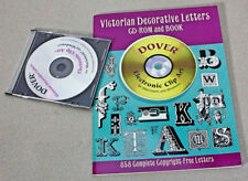 Dover Electronic Clip Art: Victorian Decorative Letters by Dover Staff (1999, Pa