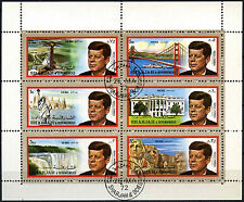 Sharjah 1972 JFK JOHN F. KENNEDY, noi punti di riferimento usato CTO M/S foglio #C113