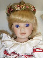 """18.5"""" Porcelain Kirsten Doll #275 by Dolls by Pauline Mint w/Box & Coa"""