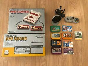 Nintendo disk system console Family computer j Boite jeux JAPAN NES famicom