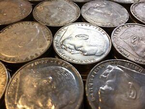 5 Reichsmark Drittes Reich Hindenburg 1935 - 1936 J.360 Silber #800#