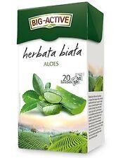 BIG Active White Tea con Aloe 20 bustine di tè herbata Biala NUOVO