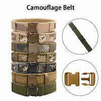 Heavy Duty Tactical Army Military Canvas Belts Buckle Combat Army Quick Release