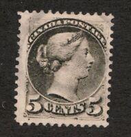 #42 - Canada - 1888 - 5 Cent - Used - F/VF - superfleas