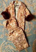 Vintage Barbie: EVENING SPLENDOR Gold Brocade Dressy Cost & Sheath 1964 #961