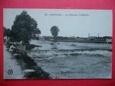 PONTOISE  : Pêcheur au Déversoir St-Martin.