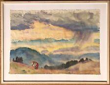 Hans Brasch, Großes Aquarell, Expressionist, Schüler von Thoma und Hodler, 2