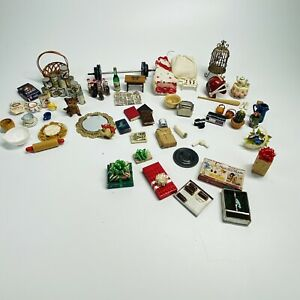 Huge Random Lot of Doll House Accessories, Dishes, Toys, more (X3)