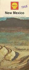 1968 SHELL OIL Copper Mine Road Map NEW MEXICO Albuquerque Santa Fe H.M. Gousha